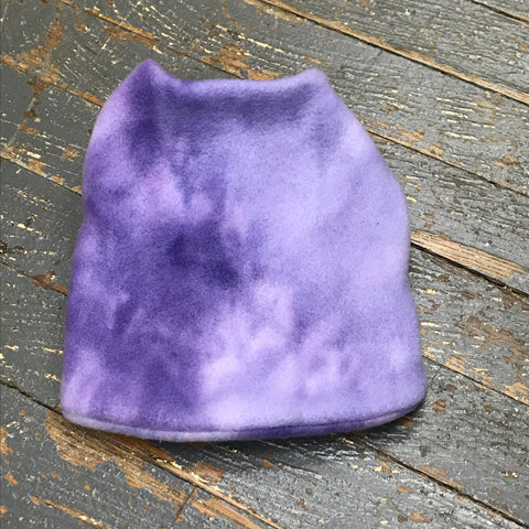 "Purple Tie-Dye Fleece Small 12"" Dog Pet Sweater Coat Vest"