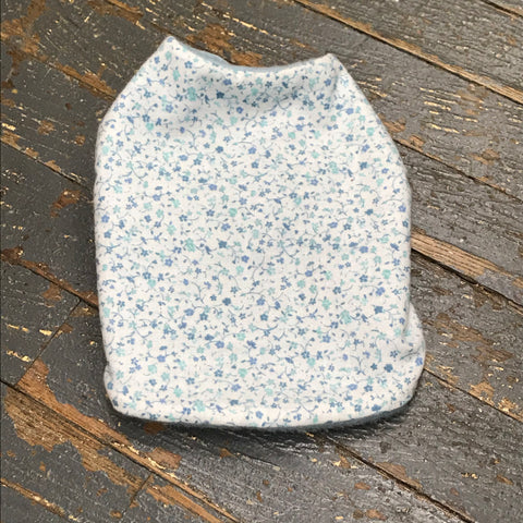 "Blue Buttercup Flower Fleece Small 12"" Dog Pet Sweater Coat Vest"