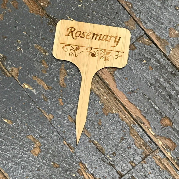 Herb Garden Wood Marker Identification Stick Stake Rosemary