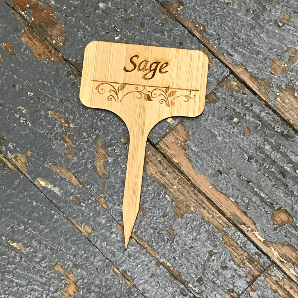 Herb Garden Wood Marker Identification Stick Stake Sage
