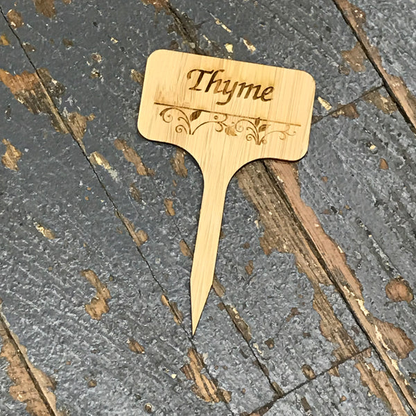 Herb Garden Wood Marker Identification Stick Stake Thyme