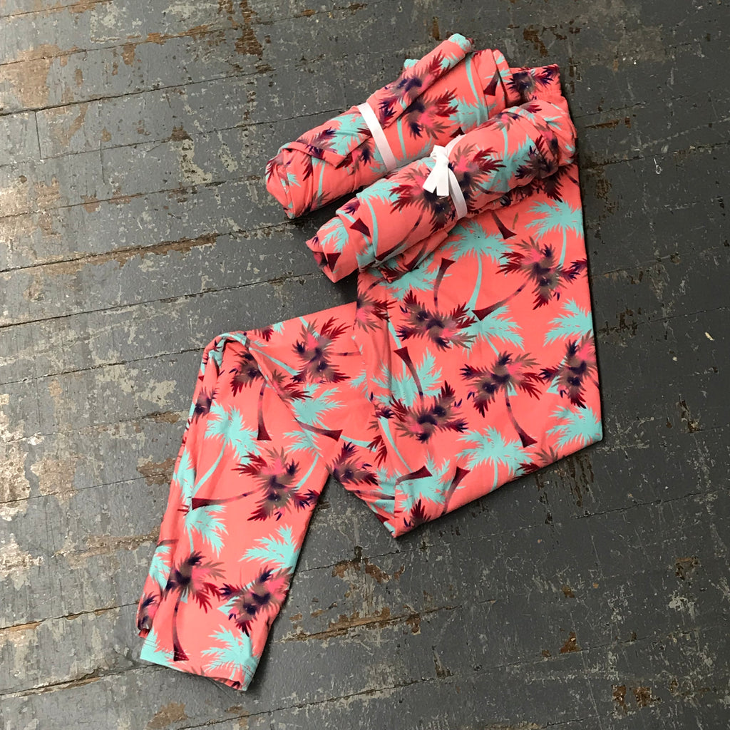 Pink Palm Tree Leggings Printed