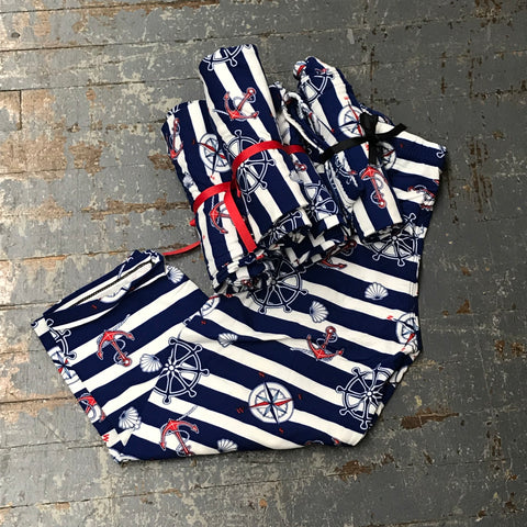 Nautical Ship Leggings Printed