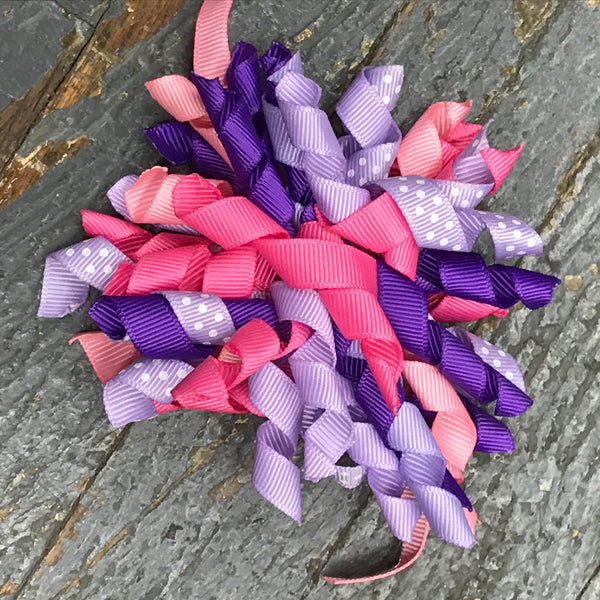 Hair Clip Korker Ribbon Headband Bow Purple