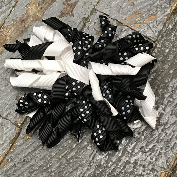 Hair Clip Korker Ribbon Headband Bow Black