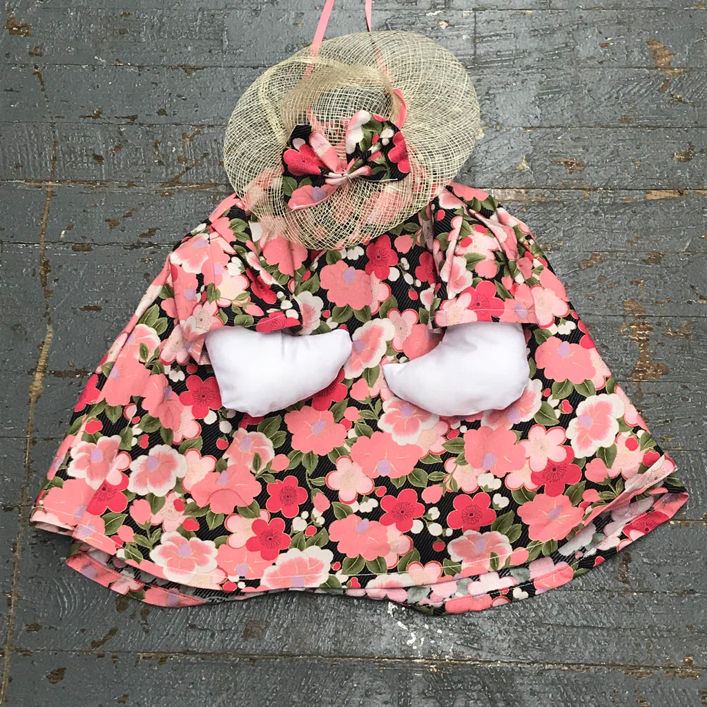 Goose Clothes Complete Holiday Goose Outfit Pansy Floral Dress and Hat Costume