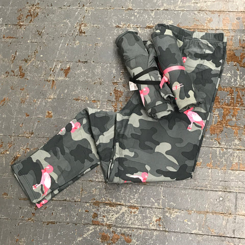 Camo Flamingo Leggings Printed