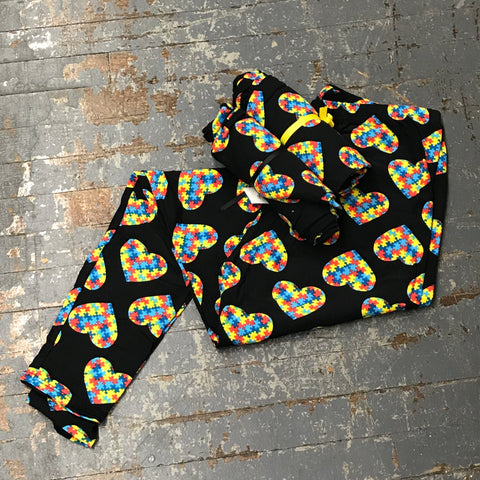 Autism Puzzle Hearts Leggings Printed