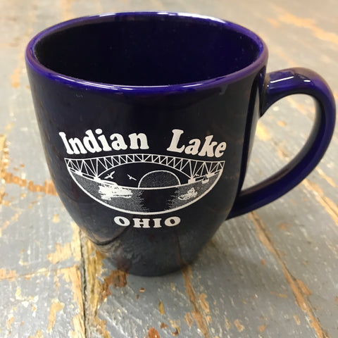 Standard Coffee Cup Mug Indian Lake Ohio Bridge