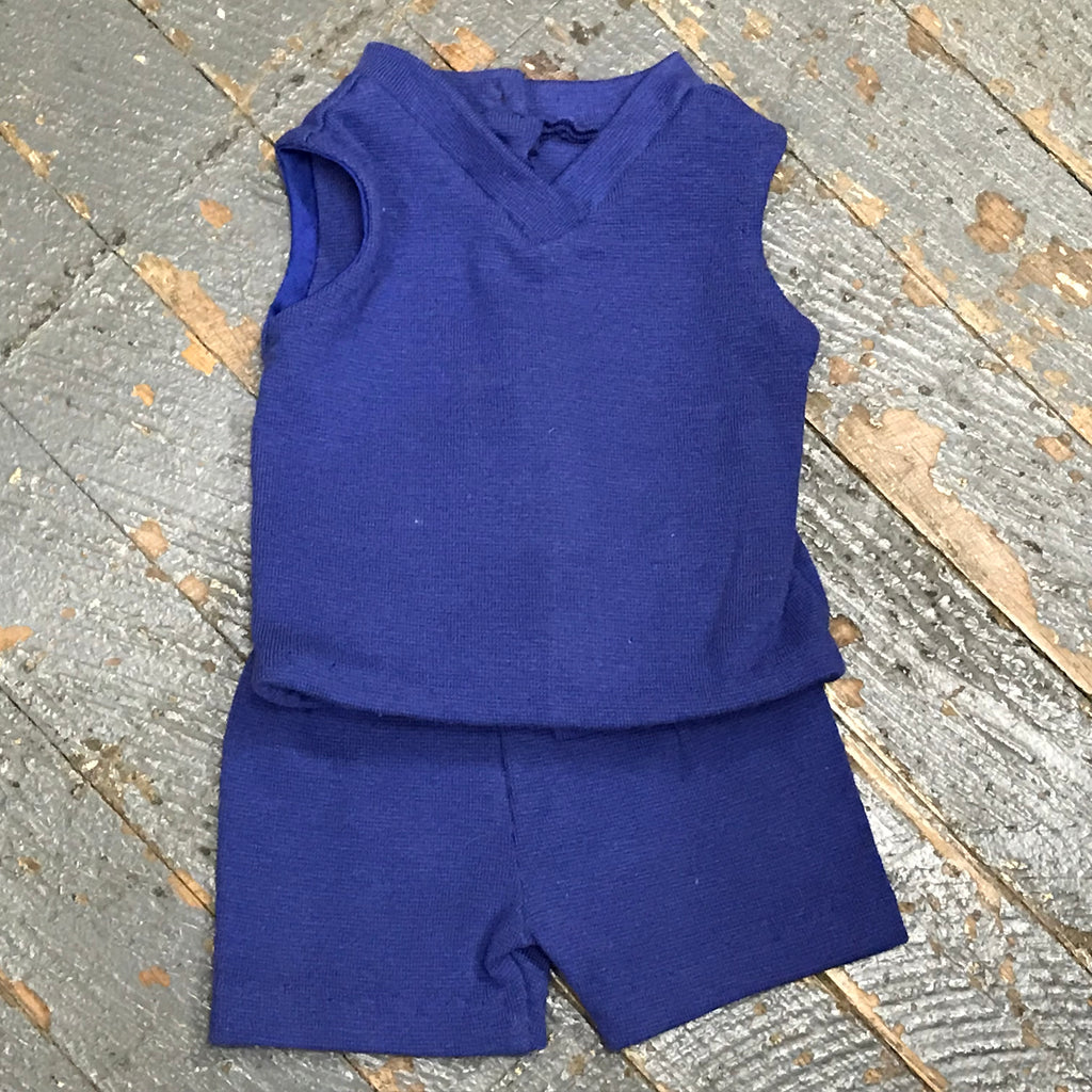 "18"" Doll Clothes Outfit Navy Blue Athletic Sports Tank and Short"