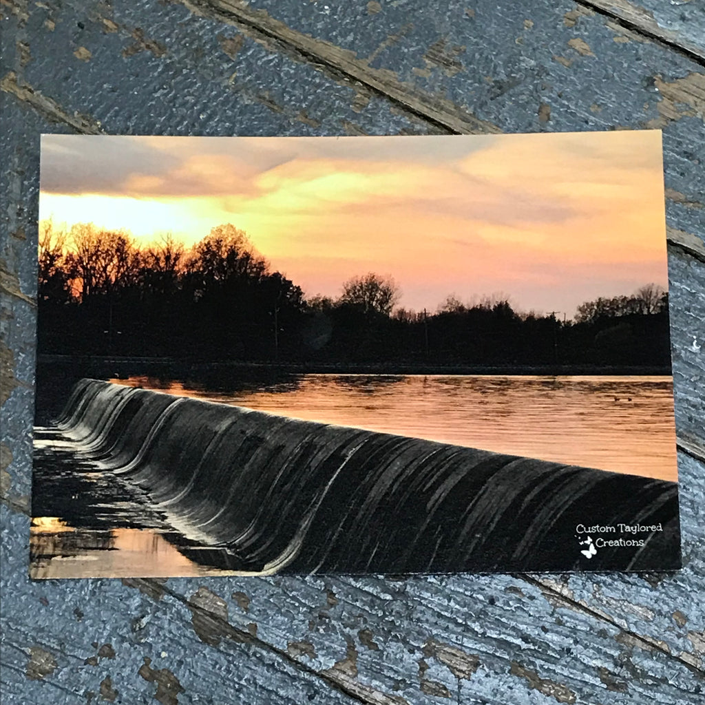 Indian Lake Post Card Spillway Sunset Front