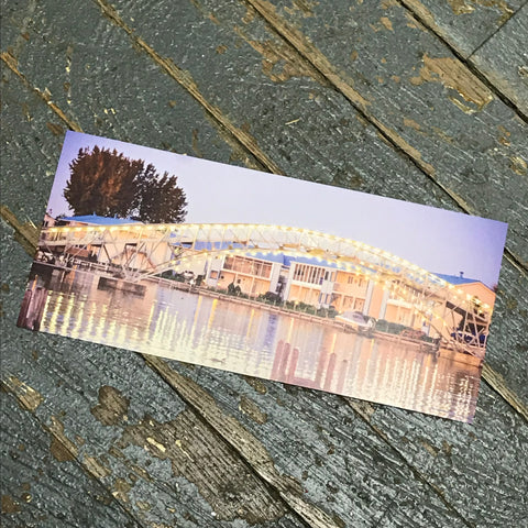Indian Lake Post Card Russells Point Harbor Bridge Front