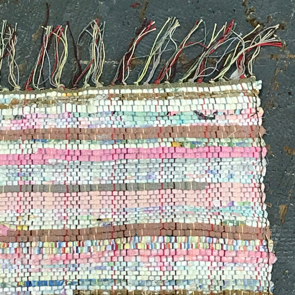 #138 Neapolitan Rag Weaved Table Runner Rug by Morgan
