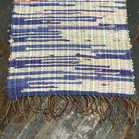 #114 Purple Rain Rag Weaved Table Runner Rug by Morgan