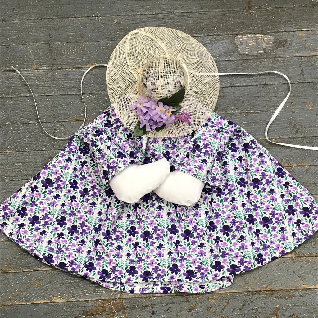 Goose Clothes Complete Holiday Goose Outfit Violet Floral Dress and Hat Costume