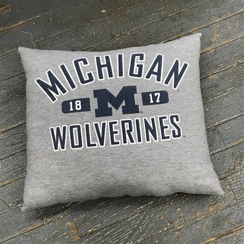 Memory T-Shirt Pillow Handmade Fabric Tee Shirt Michigan Wolverines