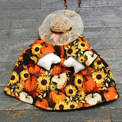 Goose Clothes Complete Holiday Goose Outfit Fall Autumn Floral Sunflower Dress and Hat