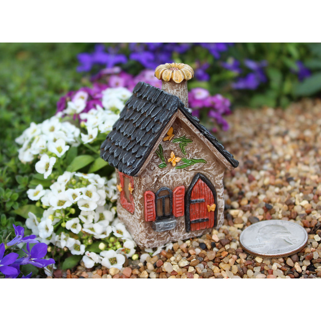 Fairy Garden Itty Bitty Butterfly House Statue Miniature