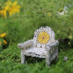 Fairy Garden Itty Bitty Daisy Chair Statue Miniature