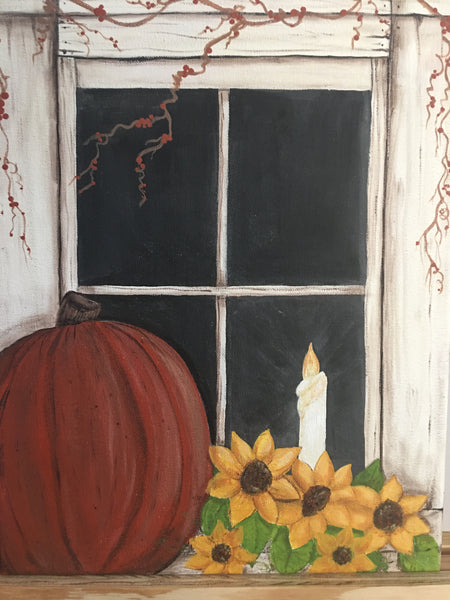 Canvas Painting Class at The Depot October 2017