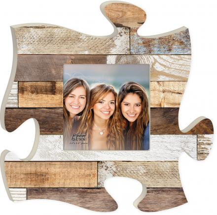 Puzzle Piece Multi Color Wood Picture Frame