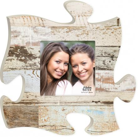 Puzzle Piece Barn Wood Picture Frame