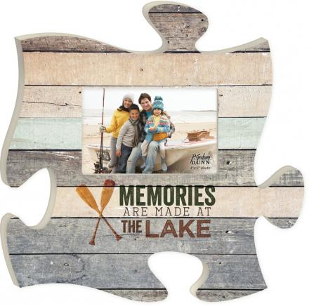 Puzzle Piece Memories at the Lake Picture Frame