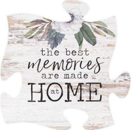 Puzzle Piece Frame The Best Memories Are Made at Home