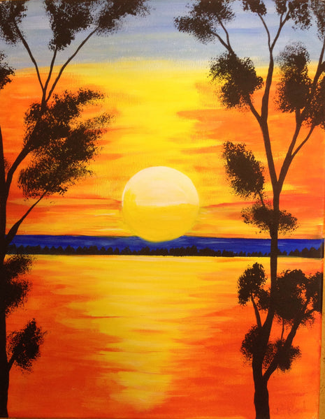 September Canvas Painting Class at The Depot