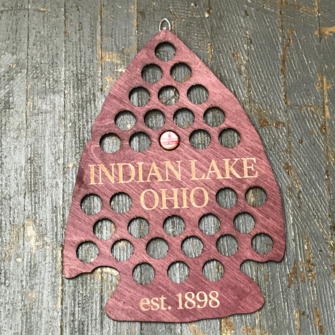 Bottle Cap Holder Arrowhead Indian Lake Ohio