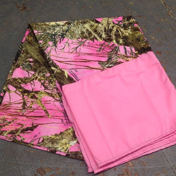 Pillowcase Pink Camo Pillow Case Pair