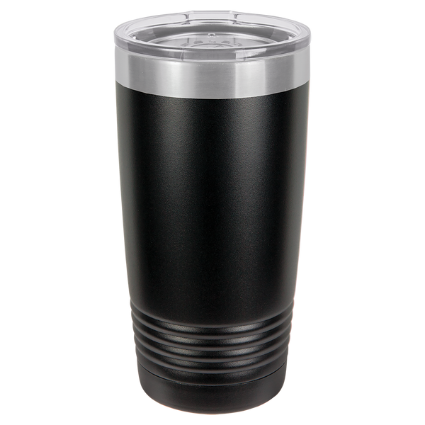 Stainless Steel 20oz Wine Beverage Drink Travel Tumbler Black