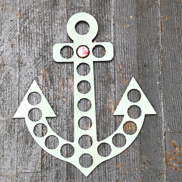 Bottle Cap Holder Anchor  Seafoam Green