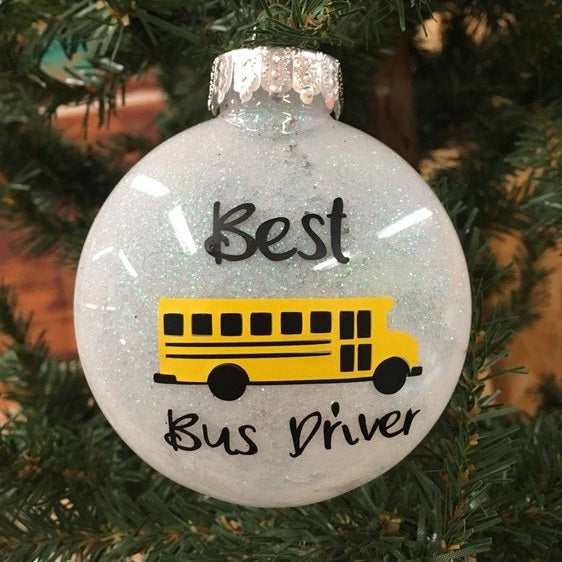 Holiday Christmas Tree Ornament School Bus Driver