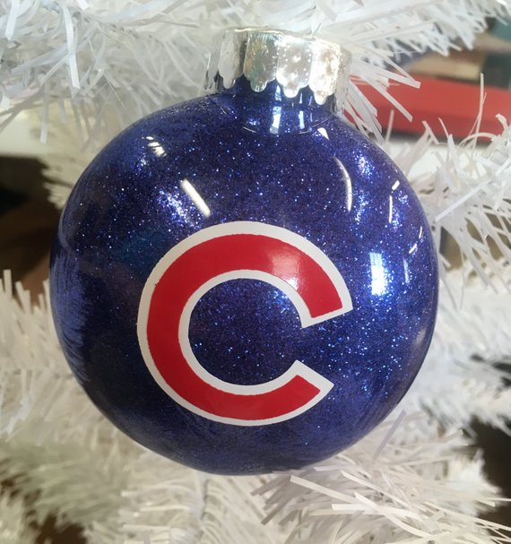 Holiday Christmas Tree Ornament Chicago Cubs Baseball