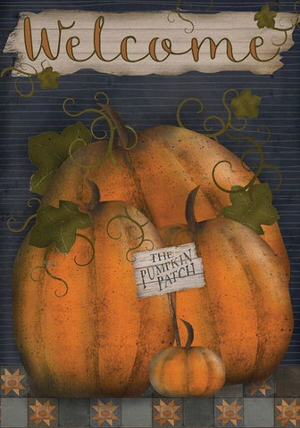Pumpkin Patch Welcome Garden Flag