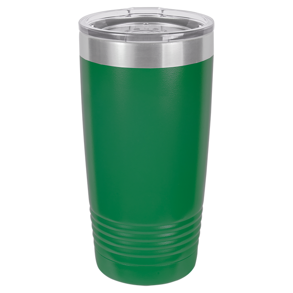 Stainless Steel 20oz Wine Beverage Drink Travel Tumbler Green