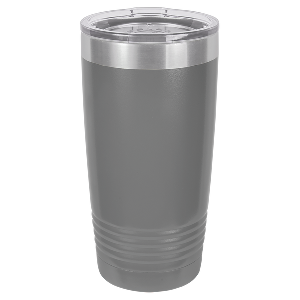 Stainless Steel 20oz Wine Beverage Drink Travel Tumbler Grey