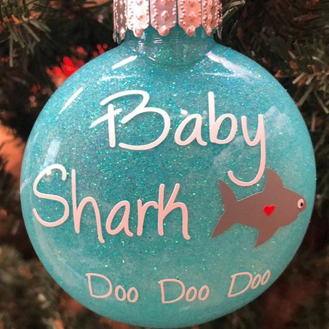 Holiday Christmas Tree Ornament Baby Shark Doo Doo Doo