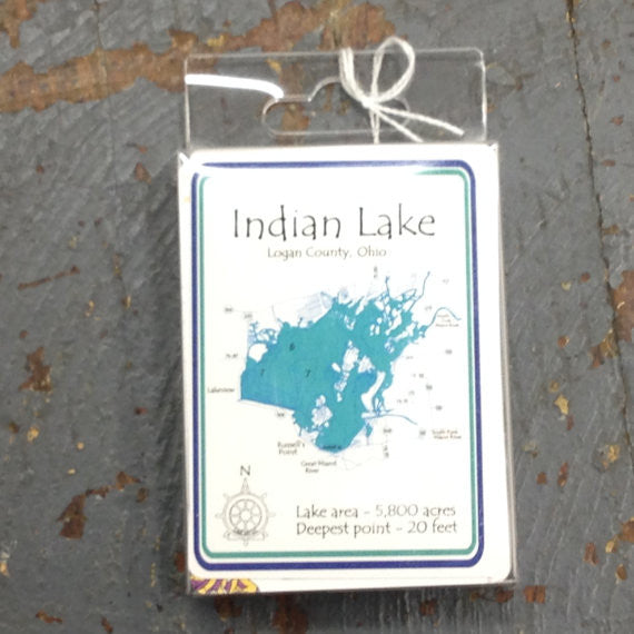 Standard Playing Card Deck Indian Lake Logan County Ohio Nautical Theme Cards