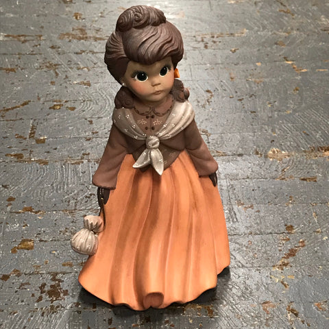 Ceramic Fall Autumn Pilgrim Settler Figurine