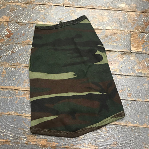 Camo Dog Pet T-Shirt Doggie Skins Tank Apparel Front Top