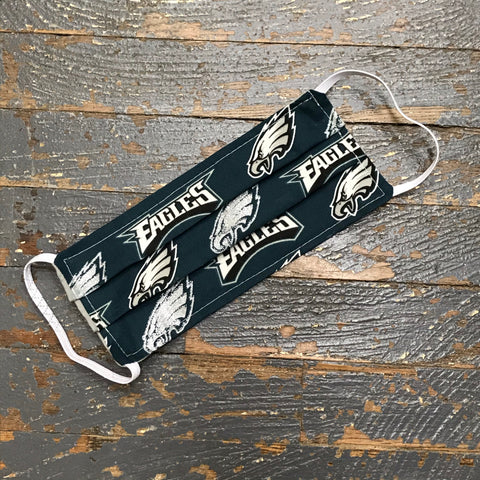 Philadelphia Eagles NFL Football Handmade Cotton Cloth Face Mask Reversible Reusable