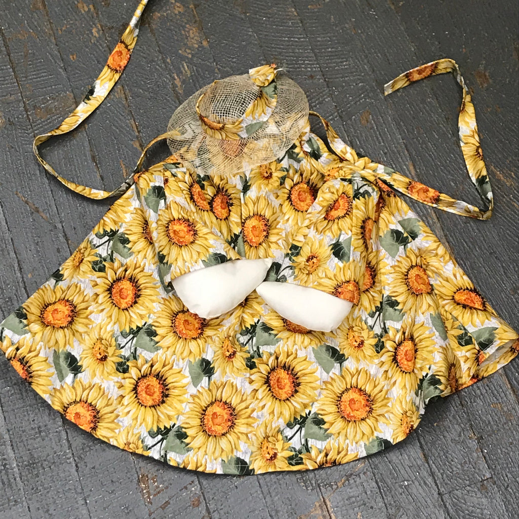 Goose Clothes Complete Holiday Goose Outfit Spring Floral Sunflower Dress and Hat