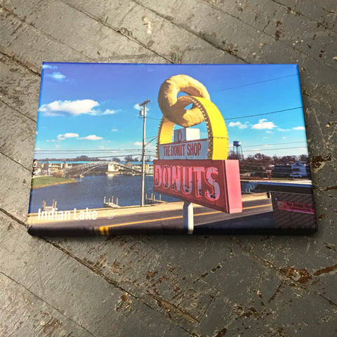 Indian Lake Ohio Donut Shop Canvas Wall Hanger Photo Kevin Campbell