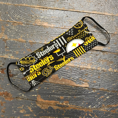 Pittsburgh Steelers NFL Football Handmade Cotton Cloth Face Mask Reversible Reusable