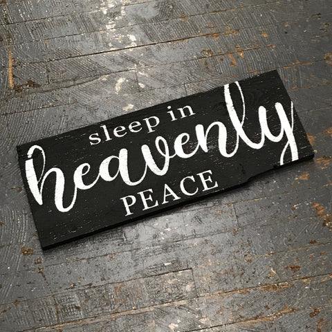 Sleep in Heavenly Peace Hand Painted Wooden Primitive Rustic Christmas Sign
