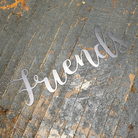 Friends Word Metal Sign Wall Hanger