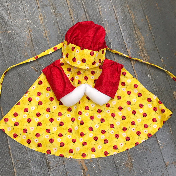 Goose Clothes Complete Holiday Goose Outfit Spring Ladybug Dress and Hat