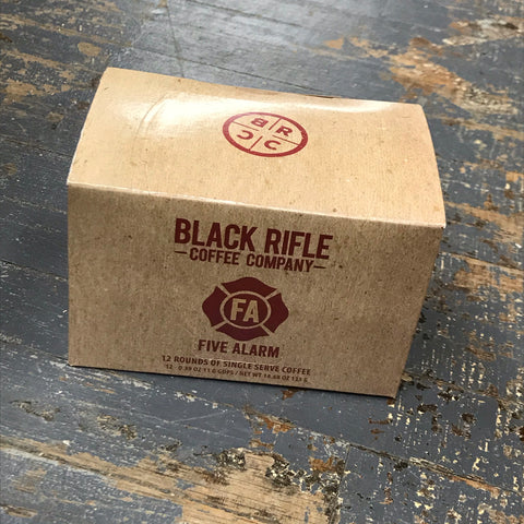 Black Rifle Five Alarm Medium Roast 12 Single Serve Rounds Coffee